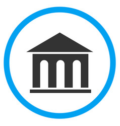 Museum building rounded icon vector