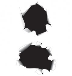 Paper holes vector