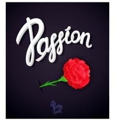 Passion poster design vector