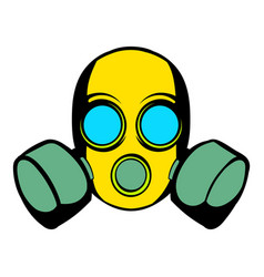 respirator icon icon cartoon vector image