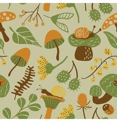 seamless pattern with mushroom vector image