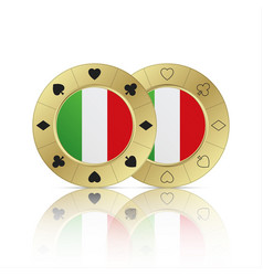Set of two casino poker chips vector