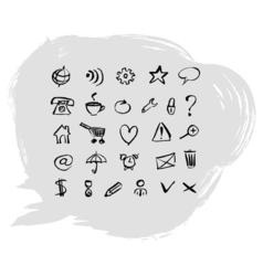 Set web icons vector
