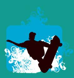 skater indy backside grab vector image vector image