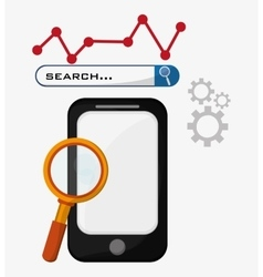 Smartphone search gear strategy vector
