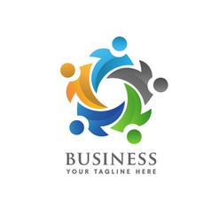 social community logo vector image vector image