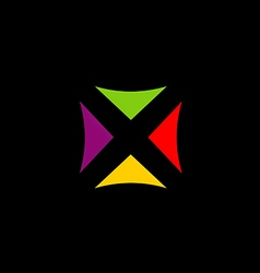 square colorful triangle logo vector image