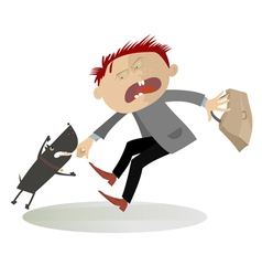The aggressive dog vector