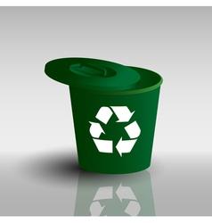 trash basket vector image vector image