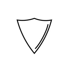 triangle shield icon vector image vector image