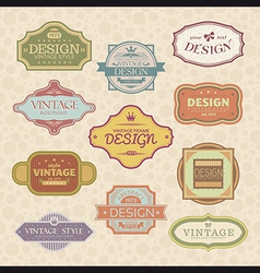 vintage style frames vector image vector image