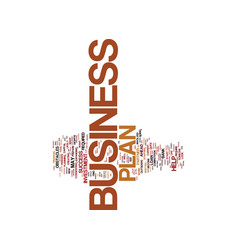 Your business plan will become your partner text vector
