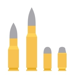 Weapon bullet icons set isolated on white vector