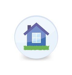 House into glass ball vector image