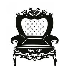 Vintage rococo classic armchair vector