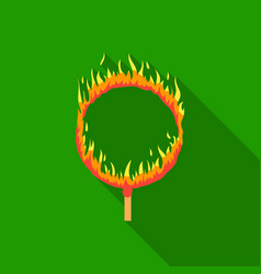 burning hoop icon in flat style isolated on white vector image