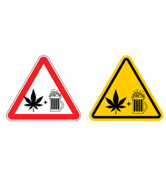 Warning sign attention alcohol and drugs dangers vector