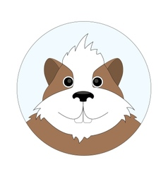 Childrens of cheerful hamster vector image