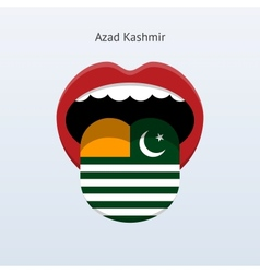 Azad kashmir language abstract human tongue vector
