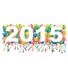 2015 balloons New Year background vector image vector image