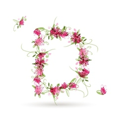 Floral letter d for your design vector