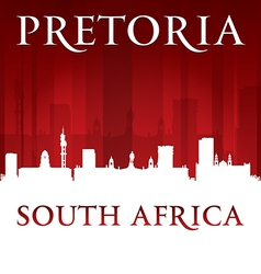 Pretoria South Africa city skyline silhouette vector image