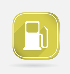 Gas station color square icon vector