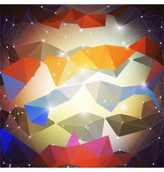 Abstract colored background triangle design vector