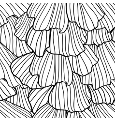 Doodle abstract frills seamless pattern vector