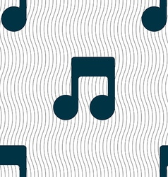 Music note icon sign seamless pattern with vector