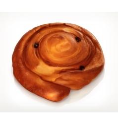 Danish pastry bakery icon vector image