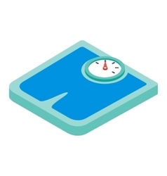Weighing machine isometric 3d icon vector