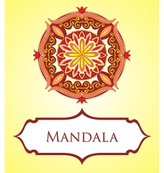 Mandala card vector