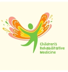 Logo depicting the silhouette of a healthy vector