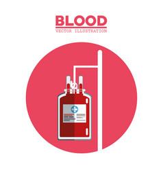 blood bag transfusion symbol vector image