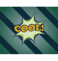 Cool comic retro cartoon vector image