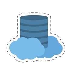 Data center cloud information digital vector