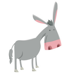 Donkey farm animal character vector