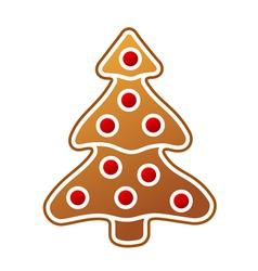 Gingerbread christmas tree vector