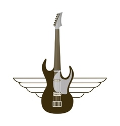 guitar electric musical instrument icon vector image vector image