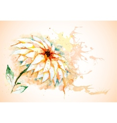 horizontal background with Lily flower vector image vector image