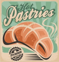 Hot pastries vector image