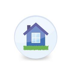 House into glass ball vector image