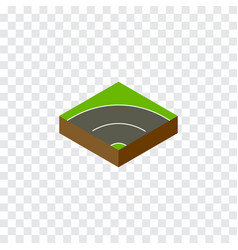 Isolated way isometric bitumen element can vector