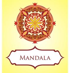 Mandala card vector image vector image