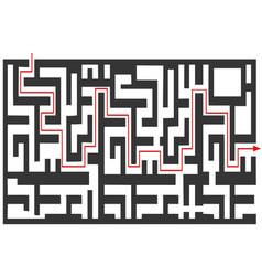maze puzzle background vector image