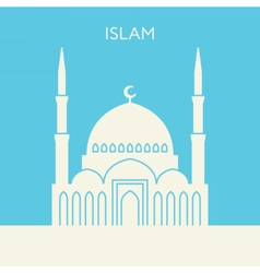 Mosque icon Islam building vector image vector image