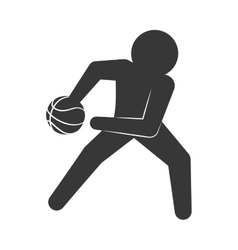 Player icon Basketball design graphic vector image vector image