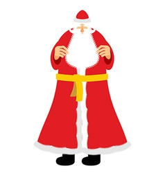 Russian grandfather Frost equivalent of Santa vector image