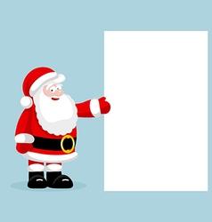 Santa claus presenting empty blank vector